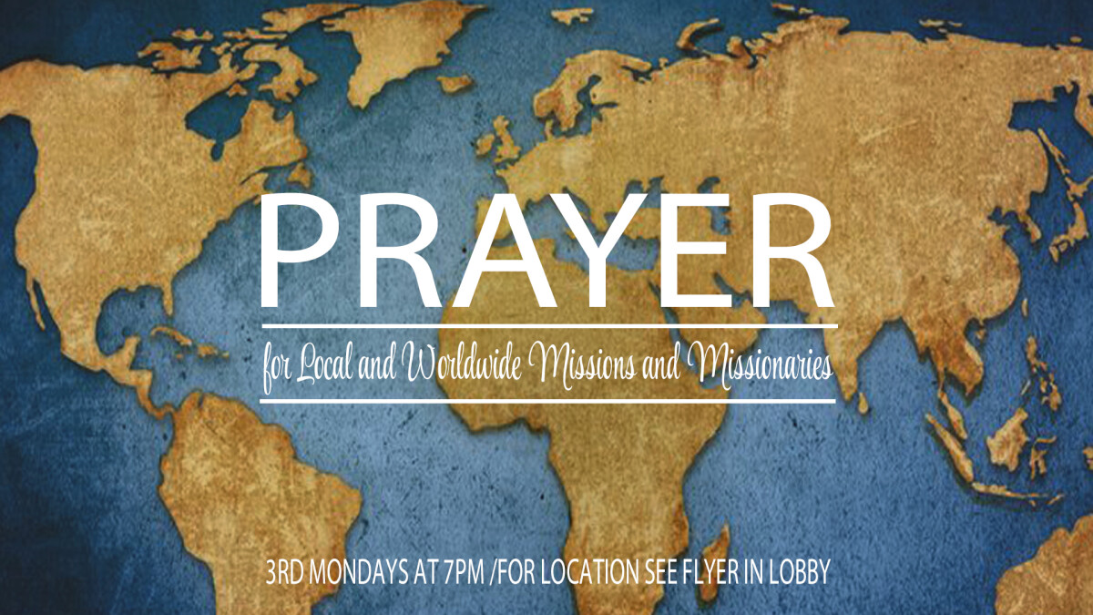 Missions Prayer Night