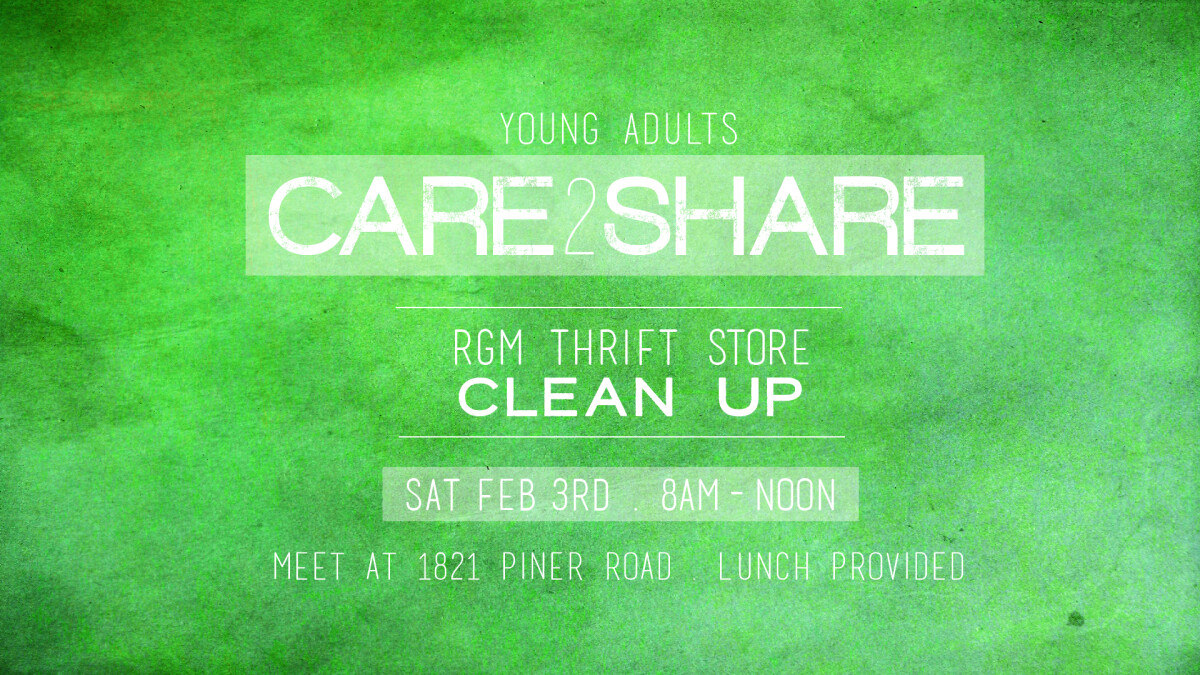YA's CARE 2 SHARE RGM Thrift Store Clean Up