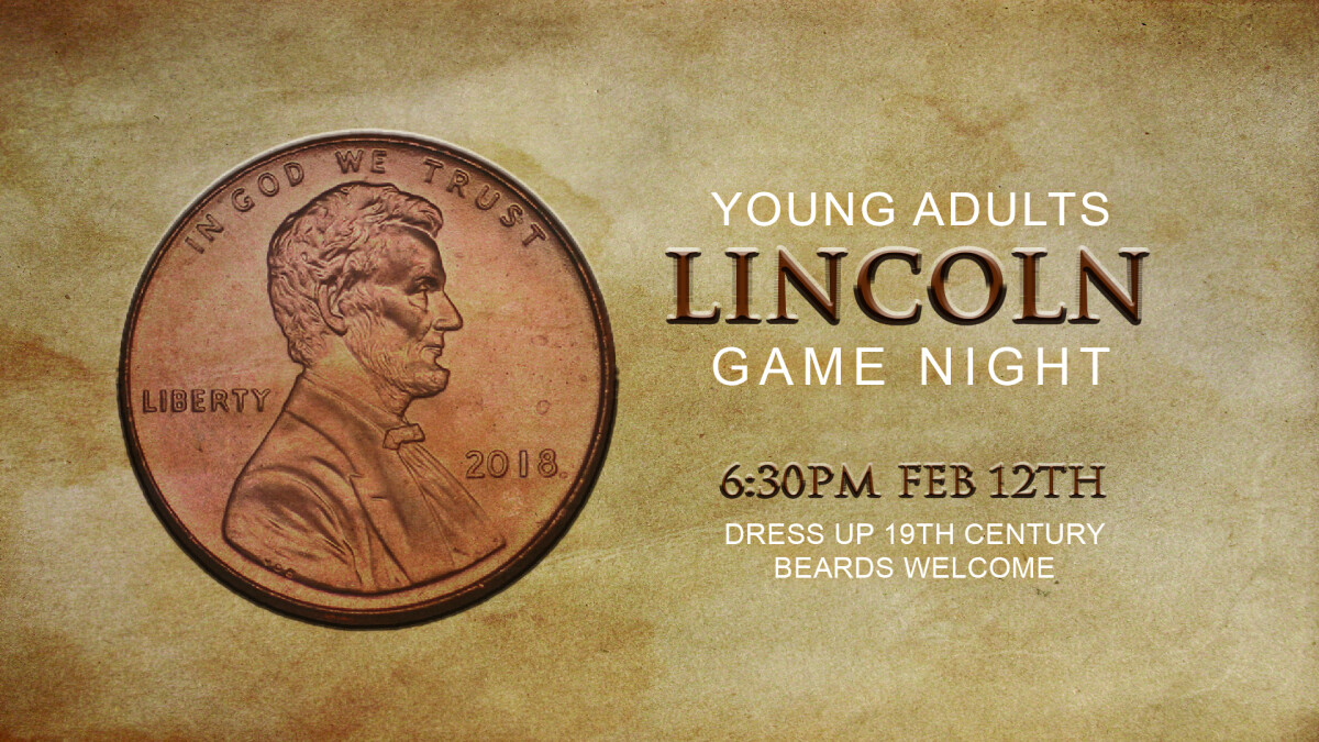 Young Adults Lincoln Game Night