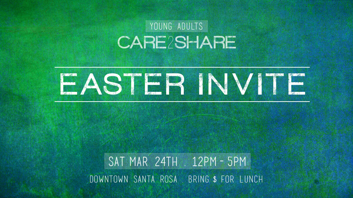 YA' Care 2 Share Easter Invite