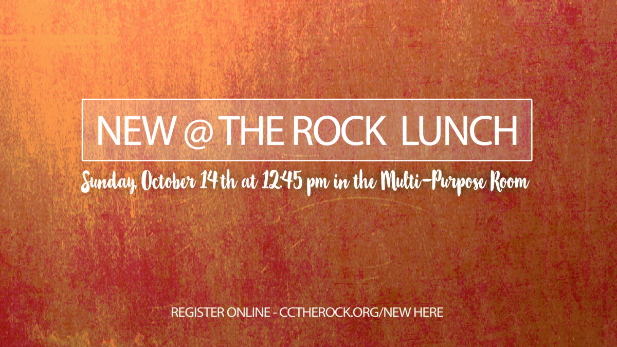 NEW @ THE ROCK Luncheon