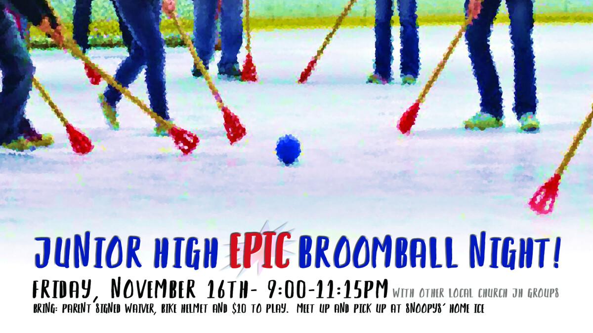 JH Broomball Invitational!